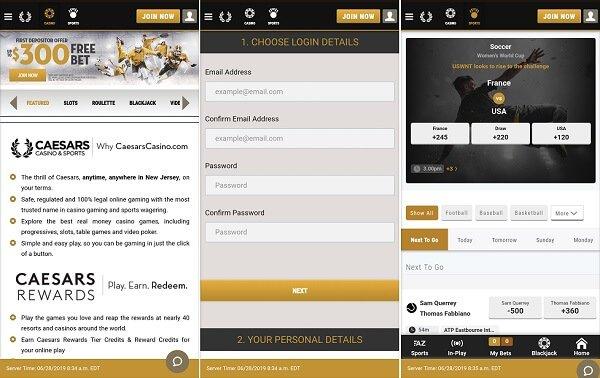 Caesars Casino App Nj In Pa Sportsbook Casino 300 Bonus