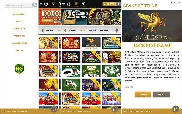 Caesars new NJ casino app