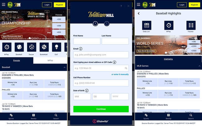William Hill NJ app for Android