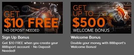 Sportbook bonus from 888