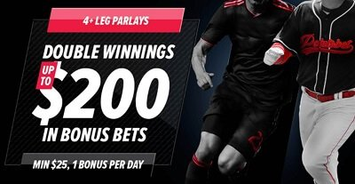 Double Winnings $200 in bonus bets