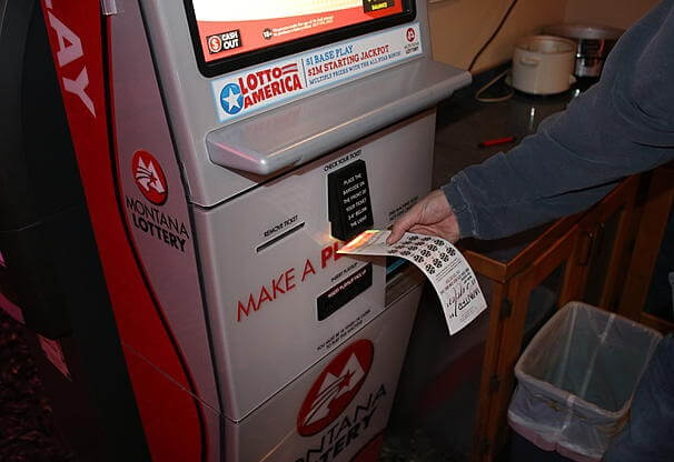 Montana retail lottery machine