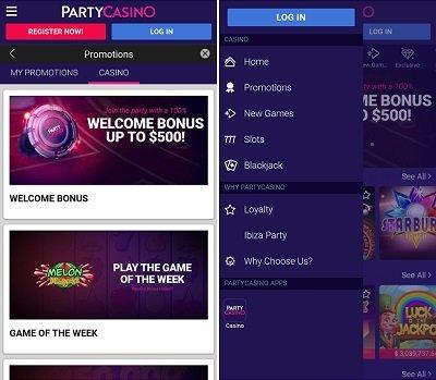 PartyCasino NJ app