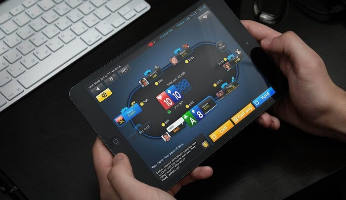 888 poker NJ on iOS