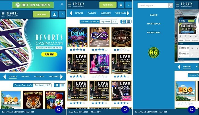 Resorts Casino mobile app