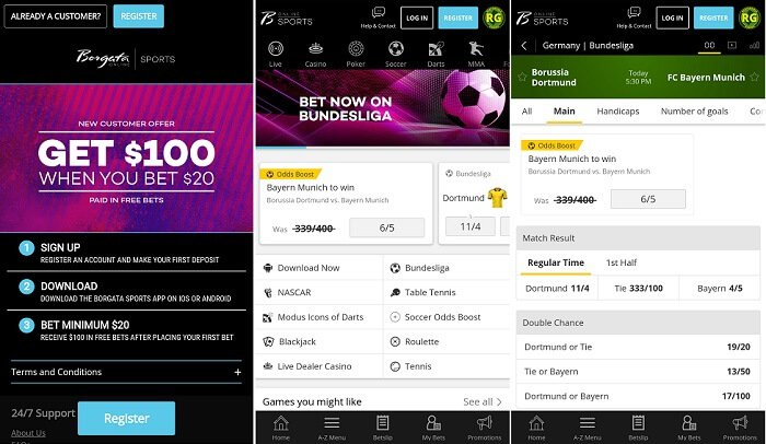Borgata Sportsbook Online Mobile 100 Free Bet Review