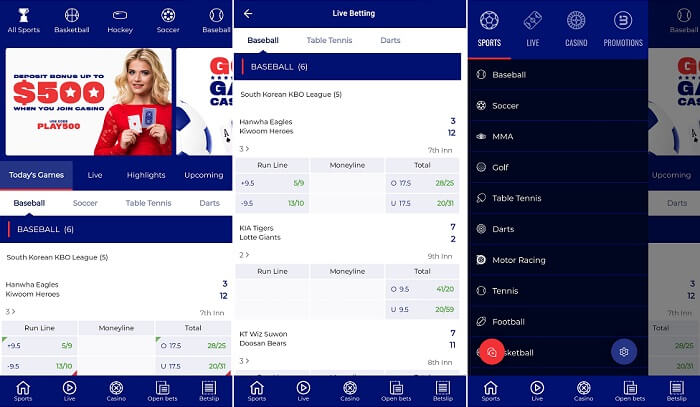 Mobile app from BetAmerica