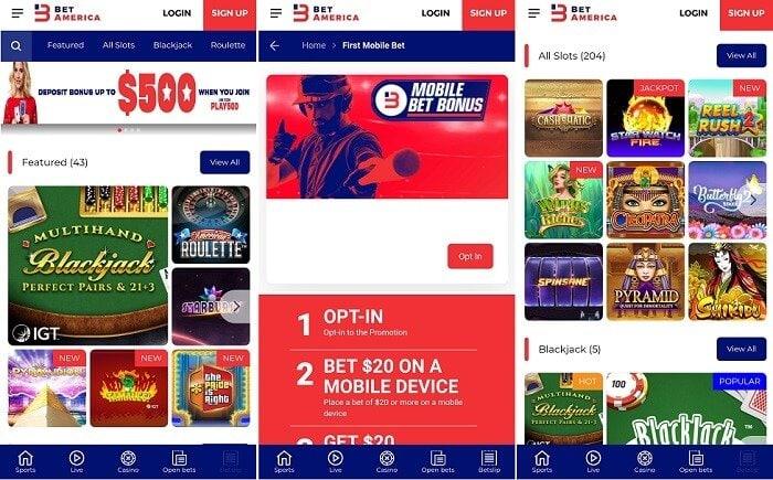 BetAmerica casino app