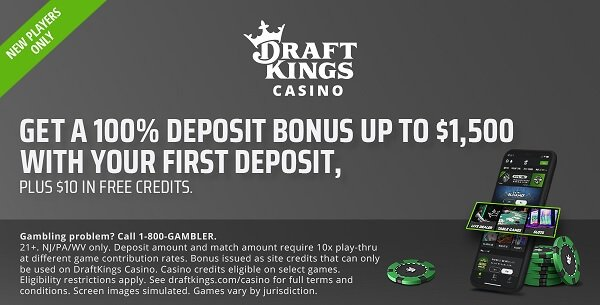 Draftkings Casino App Online 10 Free Play Promo Offer Review