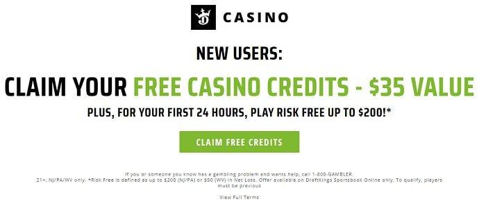 DraftKings casino bonus offer