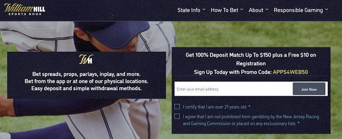 William Hill No Deposit Free Bet