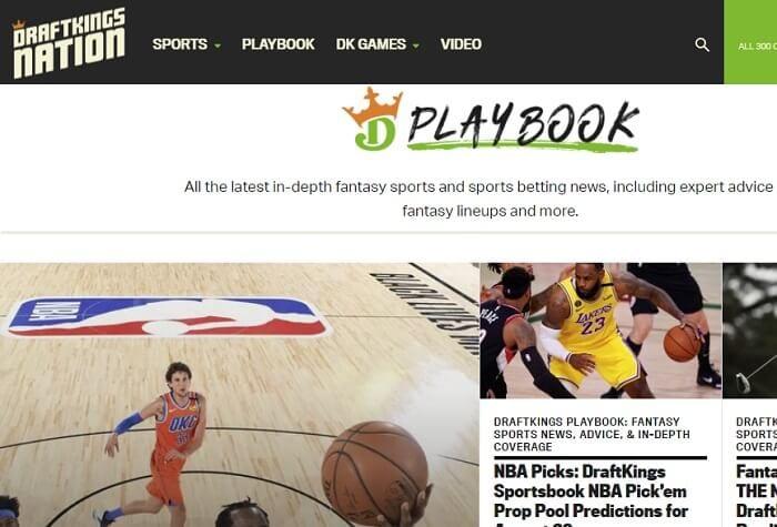 DraftKings Playbook website