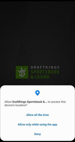 Sportsbook geolocation issues