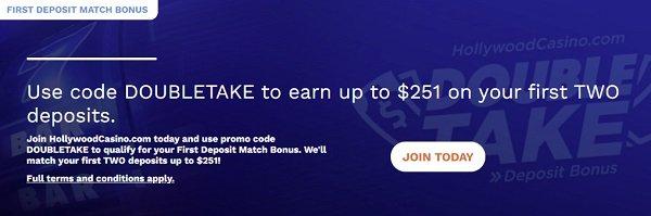 Hollywood Online Casino Bonus
