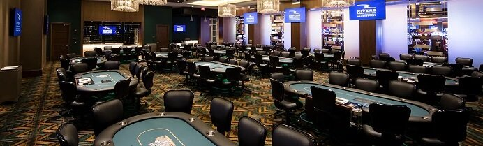 Poker room at Rivers Casino PA