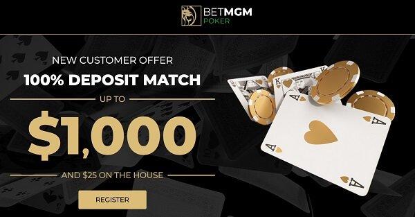 BetMGM Poker new player bonus