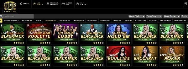 Live dealer games Golden Nugget online casino