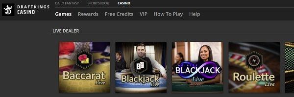 PA Live dealer online casinos