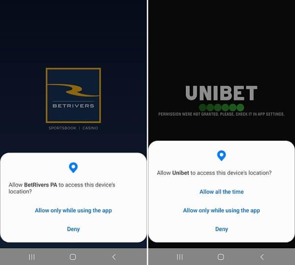 BetRiver Casino, Unibet Casino Geolocation