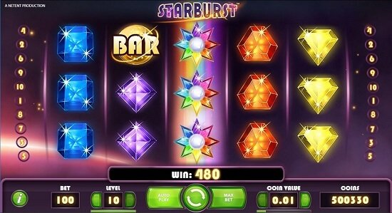 Starburst Slots Bonus