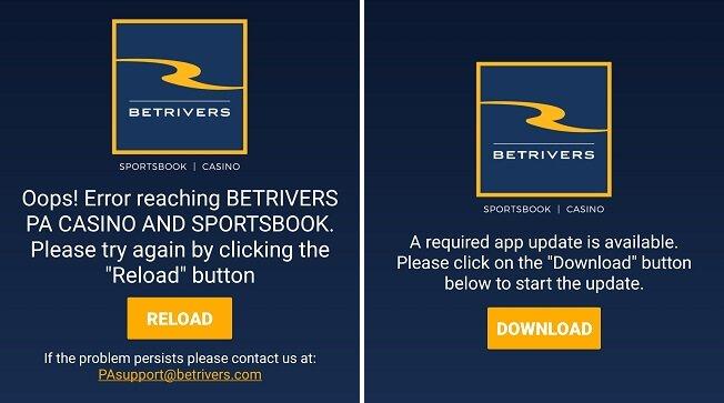 BetRivers app down