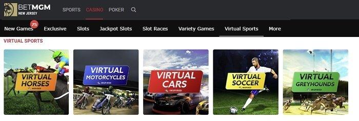 BetMGM Virtual Horse Racing
