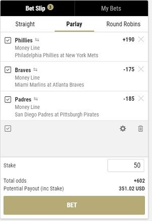 MLB Parlay betting