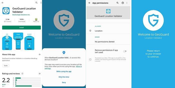 Troubleshooting GeoComply app