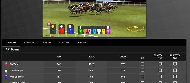 Virtual racing at Golden Nugget