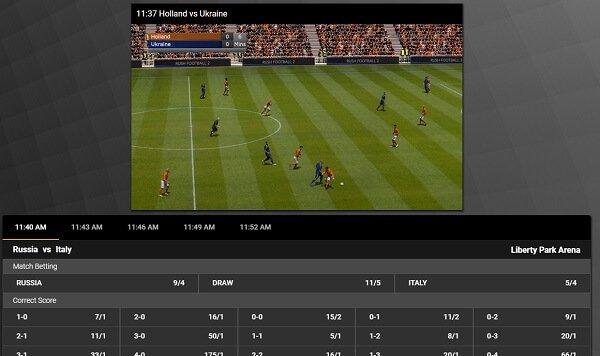 Virtual soccer betting