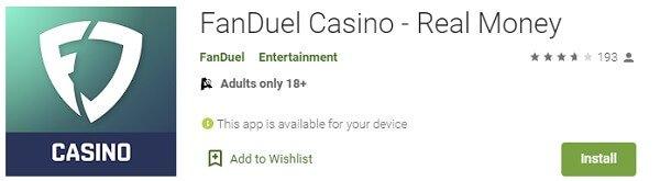 FanDuel casino app update