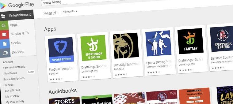 Sportsbook apps in Google Play
