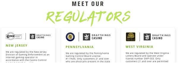 DraftKings Casino regulators