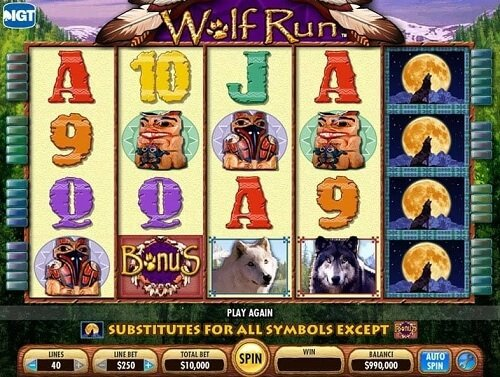 Wolf Run Slot game at Borgata