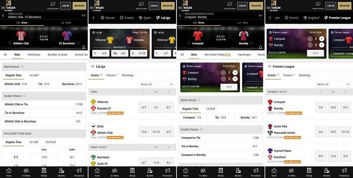 BetMGM app soccer betting
