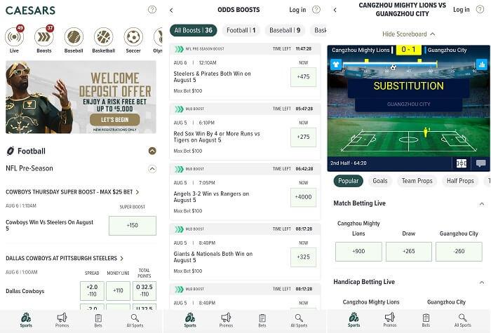 Caesars Sportsbook Android app