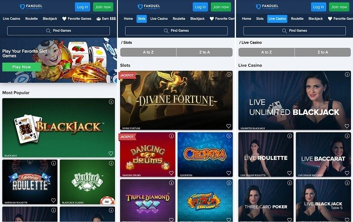 FanDuel mobile casino app
