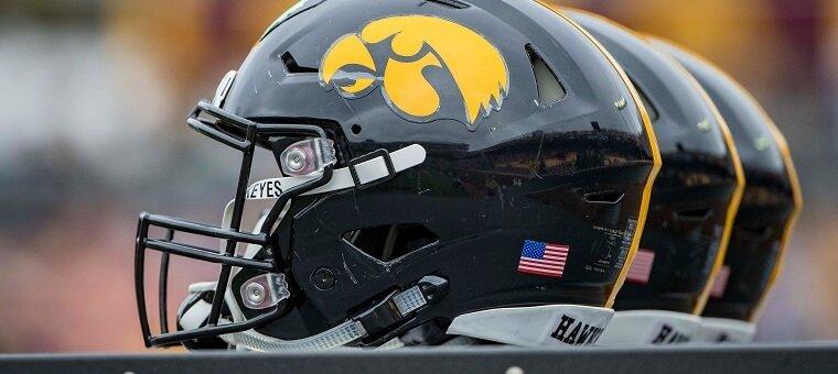 Iowa Hawkeyes football helmet